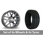 4 X 18 Bola B8r Silver Polished Face Alloy Wheel Rims And Tyres - 255/55/18