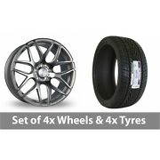 4 X 18 Bola B8r Silver Polished Face Alloy Wheel Rims And Tyres - 235/65/18