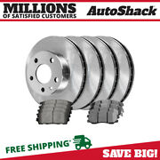 Front And Rear Disc Brake Rotors And Ceramic Pads Kit For Chevy Equinox Saturn Vue