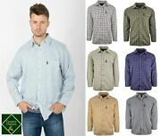 Country Classics Quality Check Shirts Mens Long Sleeve S-5xl Work Casual Outdoor