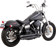 Vance And Hines Black Big Shot Staggered Exhaust 06-17 Dyna Fxdf Fxdb Fxdc Fxdwg