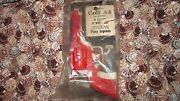 Rare Vintage Toy Whistle Pony Express Clicker Red Plastic Toy Gun