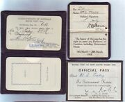 Three Fine Australian Police Passes For The Royal Visit In 1954 Queen Elizabeth