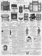 Victorian Adverts Maple And Co Furniture, Samuel Bros Clothes Antique Print 1881