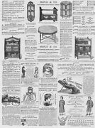 Victorian Adverts Maple And Co Furniture, Hammock Chairs - Antique Print 1881