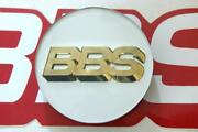 1 Bbs White With Gold 3-d Logo 56mm Center Cap 56.24.182 Or 56.24.012