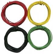 40and039- 10and039 Ea. Black Green Yellow Red 22 Gauge Stranded Wire G Gauge Scale Trains