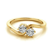 1 Carat White Vs2-si1 Diamond Solitaire Engagement Ring 14k Yellow Gold