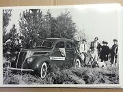 1937 Ford 4 Door With Wind Wings 12 By 18 Black And White Picture