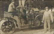 Early Street Steam Roller Men And Machinery Labor Workers Crisp C1910 Rppc Dcn