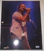 Eddie Vedder Pearl Jam Signed 11x14 Photo W/ Psa Loa And Graded 10