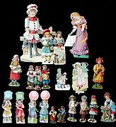 28 Different Sm Embossed Die-cut Victorian Scraps--little Girls At Work And Play