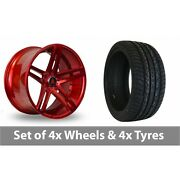 4 X 20 Axe Ex20 Candy Red Alloy Wheel Rims And Tyres - 295/40/20