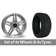 4 X 20 Wolfrace M10 Silver Alloy Wheel Rims And Tyres - 275/40/20