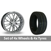 4 X 19 Zito Miracle Hyper Black Alloy Wheel Rims And Tyres - 225/35/19