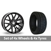 4 X 22 Zito Zl935 Black Polished Alloy Wheel Rims And Tyres - 295/30/22