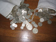 100 Face Value Of 90 Silver Dollars Halfs Quarters Dimes