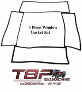 1966-1977 Early Ford Bronco Window Gasket Kit Set Of 4 Gaskets Slotted
