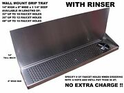 Draft Beer Tower Wall Mt Drip Tray 48 L With Rinser - S.s.grill- Dtwm48ss-8-r