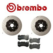 2016 For Mb Amg Gt S Set Of 2 Front Brembo Disc Rotors And Genuine Brake Pads