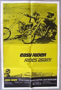 Easy Rider Movie 1 Sheet Poster Scarce 1972 Re-release