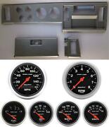 82-86 S10 Pickup Silver Dash Carrier W/ Auto Meter Sport Comp Electric Gauges