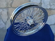 Custom 60 Spoke 18 X 3.5 Wheel For Harley Softail Fat Front Tire Fxst And Fxdwg