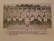 Fort Wayne Indiana General Electric 1948 Baseball Team Picture