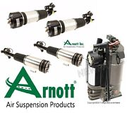 For Mercedes S W220 4 Matic Front And Rear Air Struts With Compressor Kit Arnott