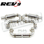 Rev9 Fits 10-15 Audi R8 5.2l V10 X-pipe 3 Stainless Catback Exhaust System Set