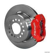 Wilwood Rear Disc Brake Kit Small Ford 9 W/ 2.66 Offset 12.19 Plain Rotor Red