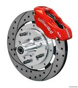 Wilwood 59-64 Impala Front Disc Brake Kit 11.75 Drilled Rotor Red Caliper
