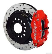 Wilwood Rear Disc Brake Kit Ford 9 Big New Style W/ 2.50 Offset Drill 14 Red