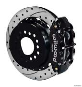 Wilwood Rear Disc Big Brake Kit Chevy Special W/ 2.81 Offset Drilled 13 Black