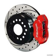 Wilwood Rear Disc Brake Kit Big Ford 9 W/ 2.36 Offset 12.19 Drilled Rotor Red