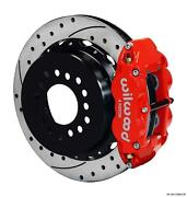 Wilwood Chevy 10/12 Bolt 2.75 Offset Rear Disc Brake Kit 12.88 Rotor Drill Red