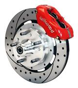 Wilwood Mopar B And E Body Front Disc Big Brake Kit 12 Drilled Rotor Red Caliper