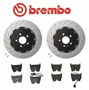 For Audi Rs4 07-08 Set Of Front Left And Right Brembo Brake Discs And Genuine Pads