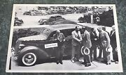 12 By 18 Black And White Picture 1936 - 3000000 V-8 Ford 4 Door