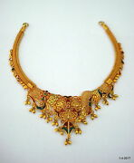 Vintage Antique 20kt Gold Necklace Choker Traditional Handmade Jewelry