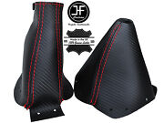 Red Stitch Carbon Fiber Look Shift And E Brake Boot Fits 300zx Z32 1990-1996