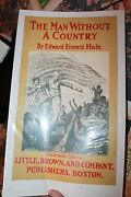 The Man Without A Country Original Antique Book Poster 1895 Little And Brown