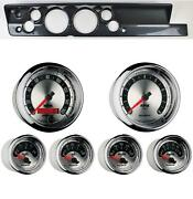 67-69 Barracuda Carbon Dash Carrier W/ Auto Meter 5 American Muscle Gauges