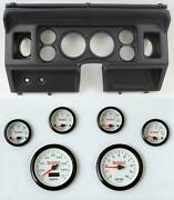 80-86 Ford Truck Black Dash Panel W/ White Face Electric Gauges