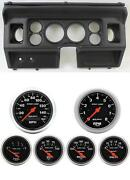 80-86 Ford Truck Black Dash Carrier W/ Auto Meter Sport Comp Electric Gauges