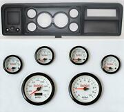 73-79 Ford Truck Black Dash Carrier W/ 3-3/8 Concourse Series White Gauges