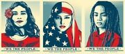 Shepard Fairey We The People ・greater Defend Protect Set Of 3 Prints Very Rare