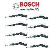 For Jaguar F-type Xkr-s Xf Xkr Land Rover Set Of 8 Fuel Injectors Oem Bosch