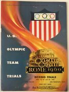 1960 Us Olympic Team Trials Boxing Finals Cow Palace San Francisco Program Ali