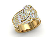 Natural 2ct Round Cut Diamond Fancy Decorative Wedding Band Ring Solid 18k Gold